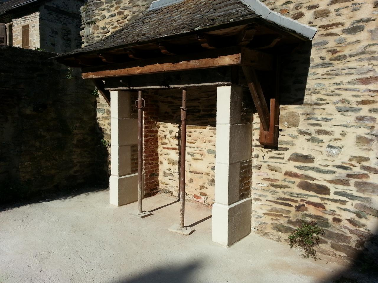 Réalisation structure barbecue