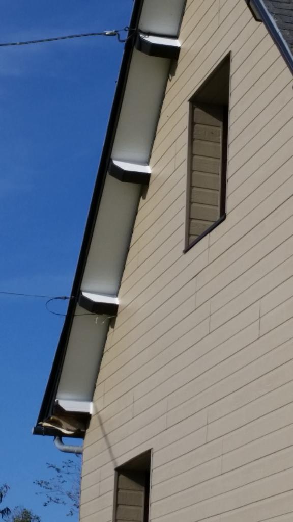 Détail habillage d'avant toit PVC et zinc