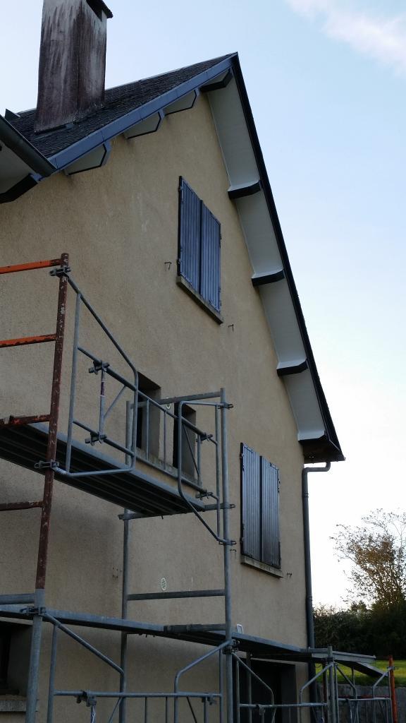 habillage d'avant toit PVC et zinc