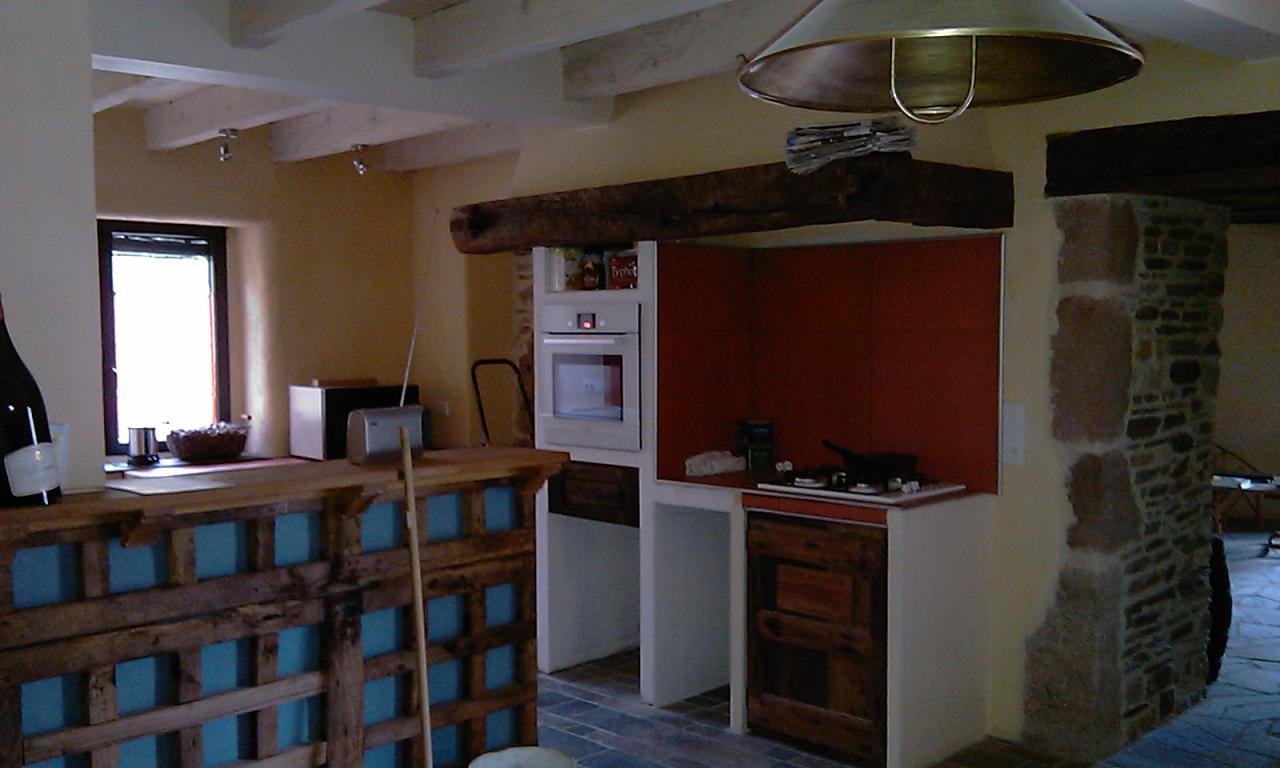 Réalisation éléments de cuisine maçonnés