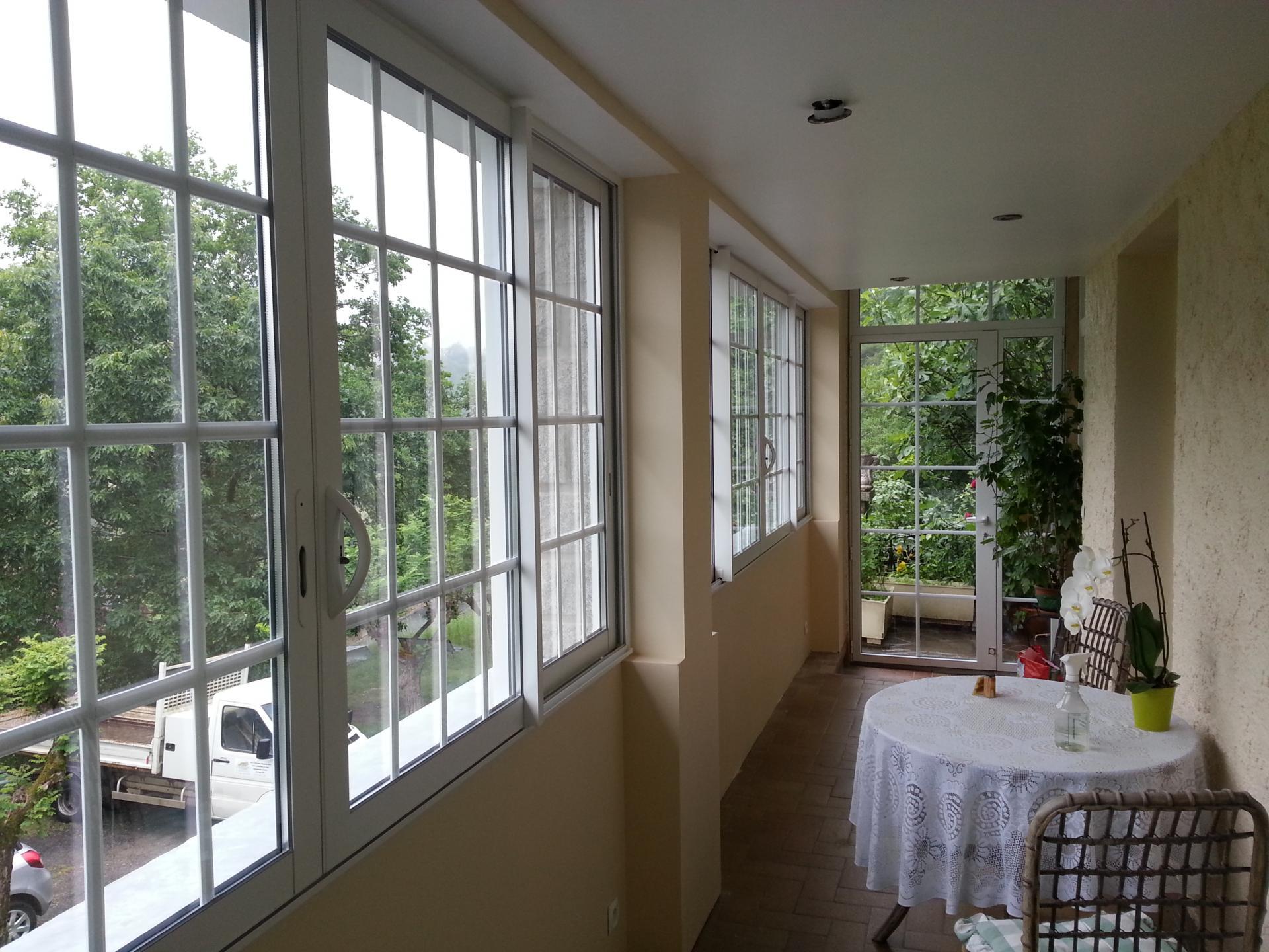 Création verrière/vérranda dans terrasse existante